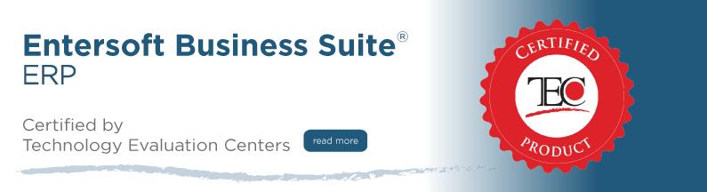 Entersoft Business Suite® ERP | TEC Certified